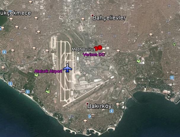 Location of Verizon Data Centre